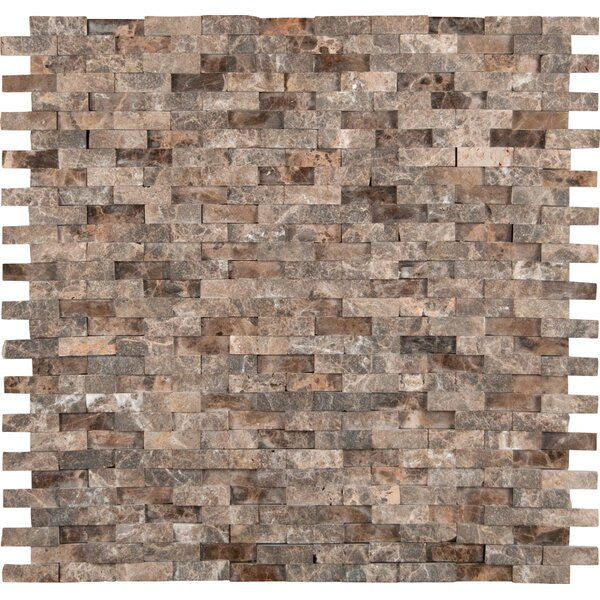 Emperador 12'' x 12'' Marble Splitface Tile in Brown by MSI