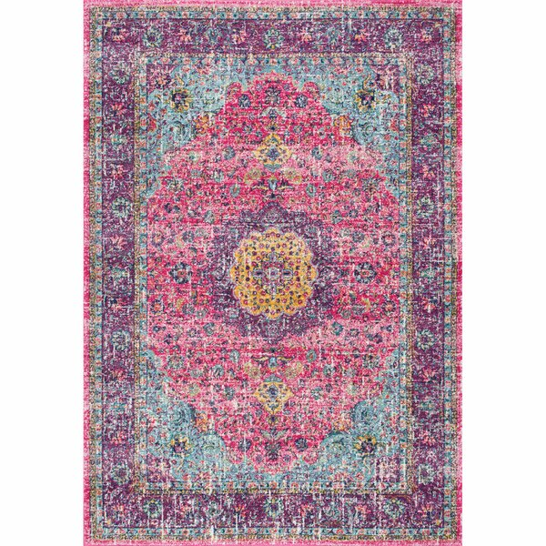 Darcia Pink/Purple Area Rug by Mistana