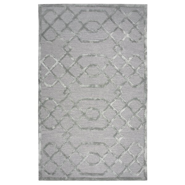 Carpathia Hand-Tufted Gray/Silver Area Rug by Mercer41