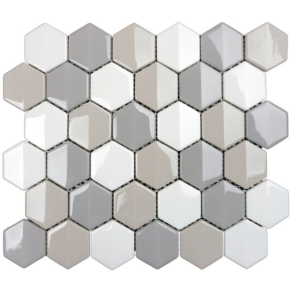 Constantine 1.8 x 2.1 Glass Mosaic Tile in Tegyr by Solistone