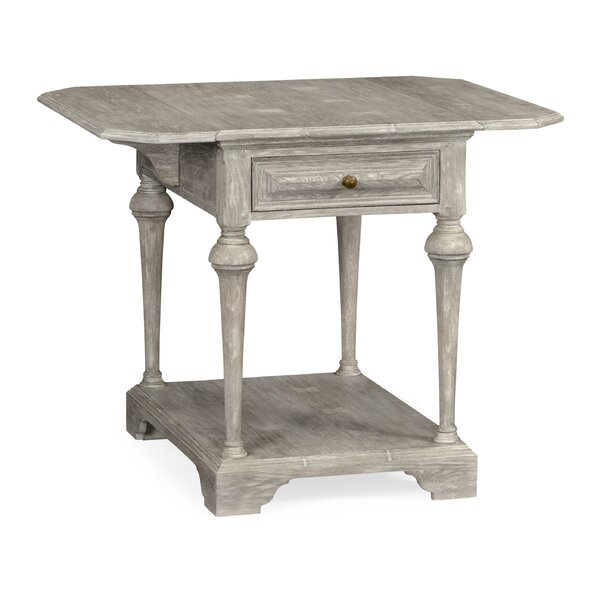Pembroke End Table with Storage by Jonathan Charles Fine Furniture Jonathan Charles Fine Furniture