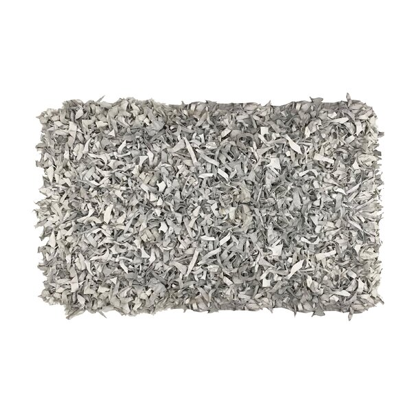 Grigg Hand-Knotted Silver Area Rug by Ebern Designs