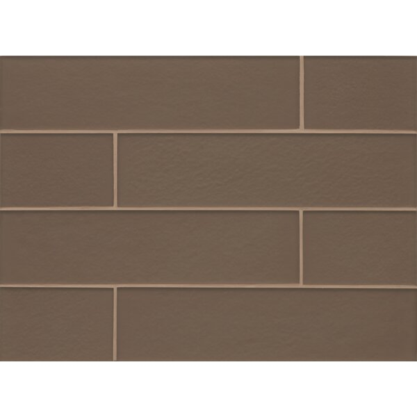 Remy Glass Matte Field Tile in Brown by Grayson Martin