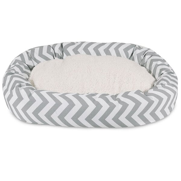 Chevron Sherpa Bagel Bolster by Majestic Pet Products