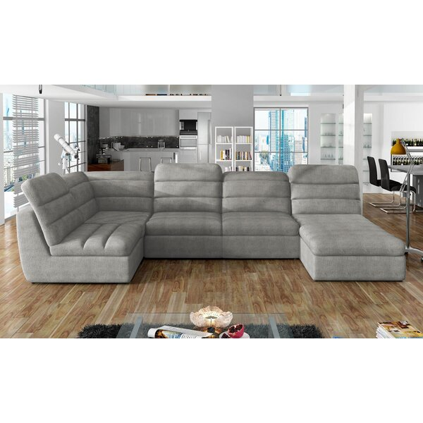 Review Brockville Reversible Sleeper Sectional With Ottoman