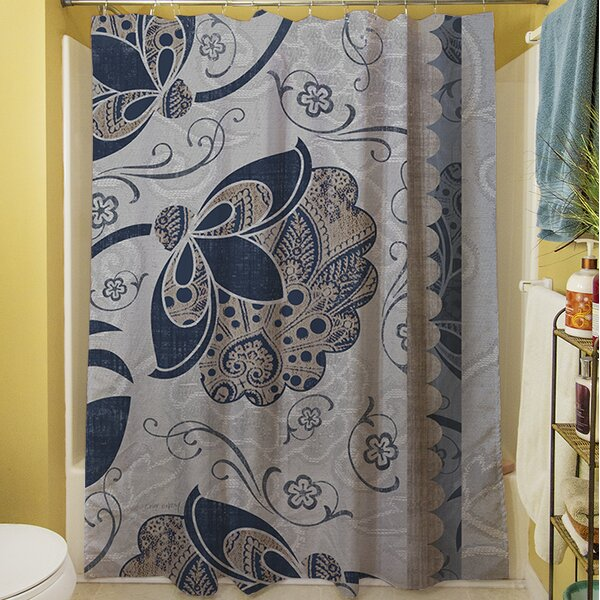 Elegante V Shower Curtain by Manual Woodworkers & Weavers