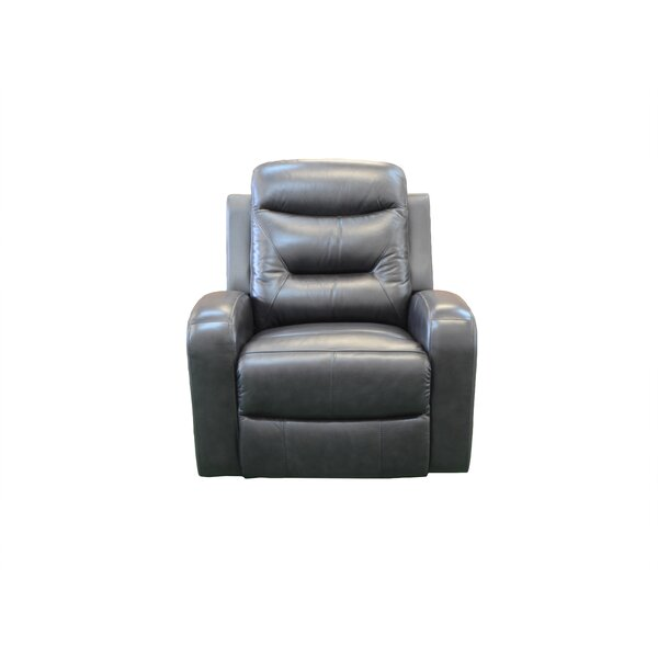 Rae Leather Power Lift Assist Recliner by Red Barrel Studio