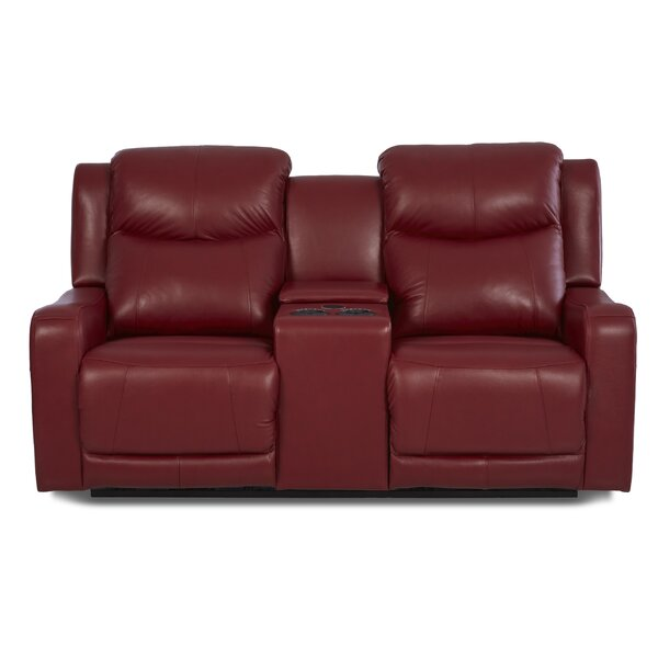 Theodore Leather Reclining Sofa by Red Barrel Studio