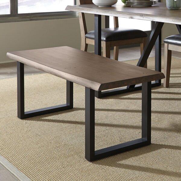 Sierra Wood/Metal Bench by Standard Furniture