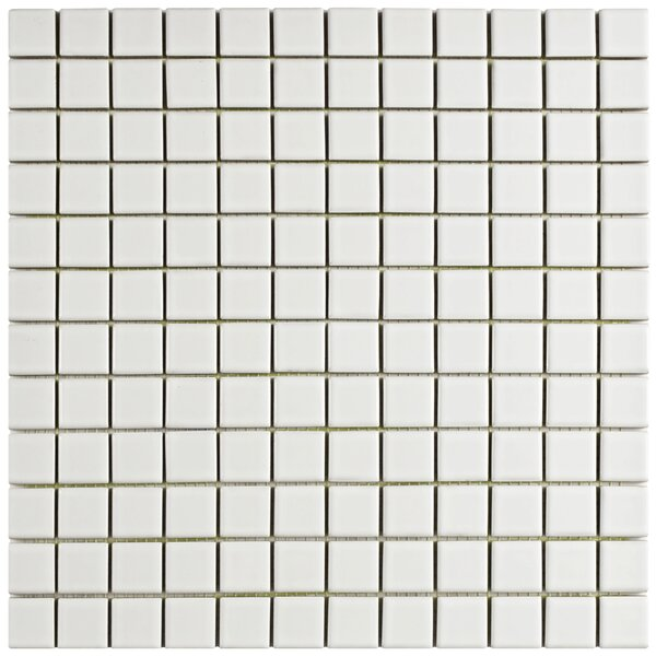 Basen 12.5 X 12.5 Porcelain Mosaic Tile in White by EliteTile