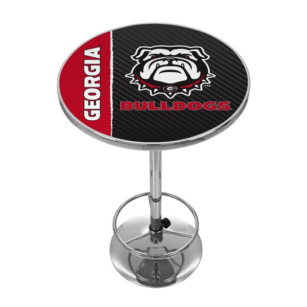 Bargain NCAA University Of Georgia Pub Table By Trademark Global Comparison