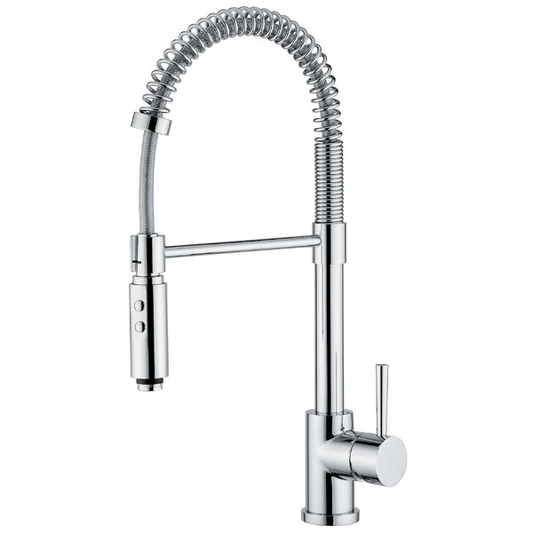 Linea Pull Out Single Handle Kitchen Faucet by WS Bath Collections
