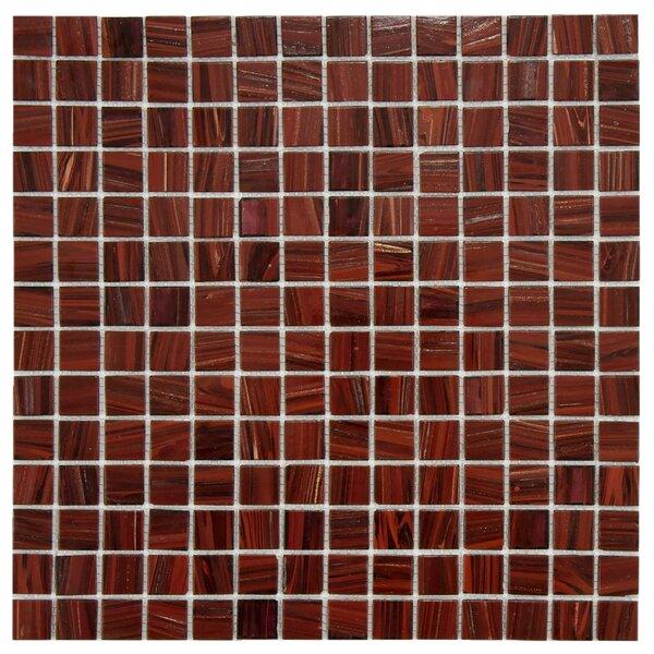 Fused 0.75 x 0.75 Glass Mosaic Tile in Auburn by EliteTile