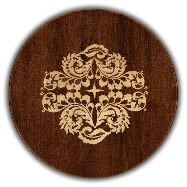 Artisan Woods Fern Leaf Round Serving Platter by Martins Homewares