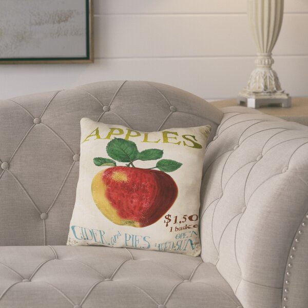 Amelia Apples, Cider & Pies Throw Pillow by August Grove