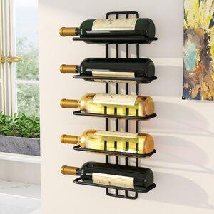 Carlotta 5 Bottle Wall Mounted Wine Rack
