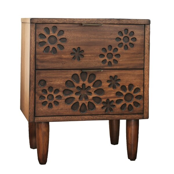 Alayah 2 Drawer Nightstand by Orren Ellis