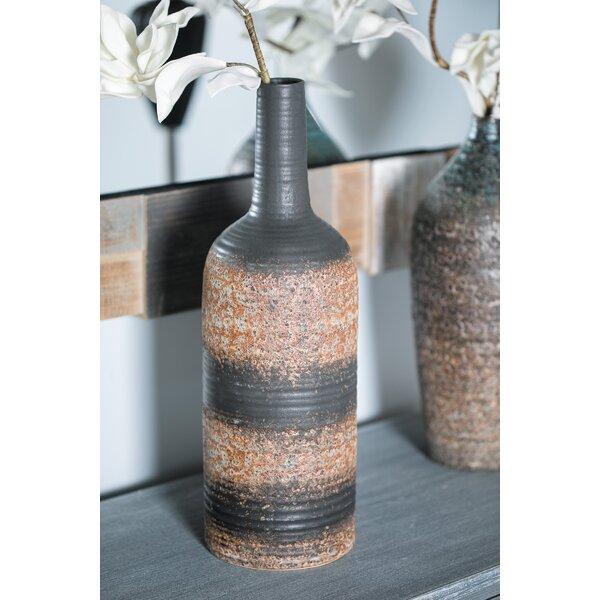 Henline Traditional Bottle Stoneware Floor Vase by World Menagerie