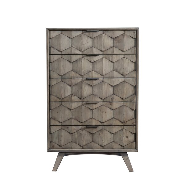 Lola 5 Drawer Chest by Modern Rustic Interiors