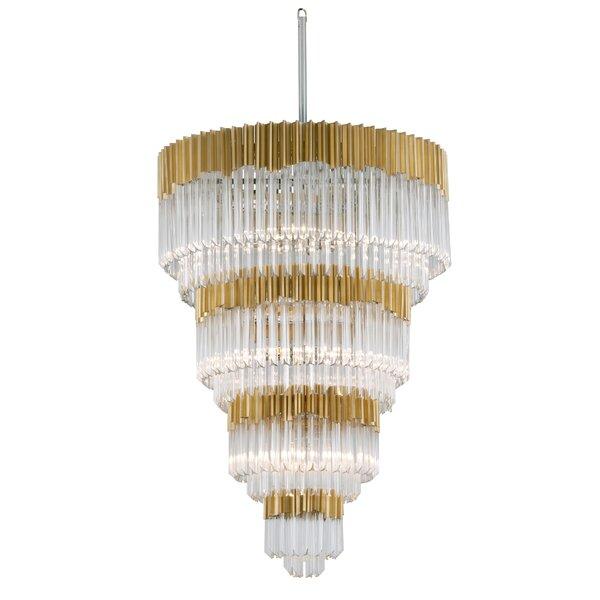 Charisma 17-Light Unique / Statement Tiered Chandelier By Corbett Lighting