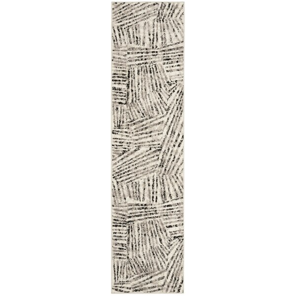 Cosner Power Loomed Gray/Ivory Area Rug by Corrigan Studio