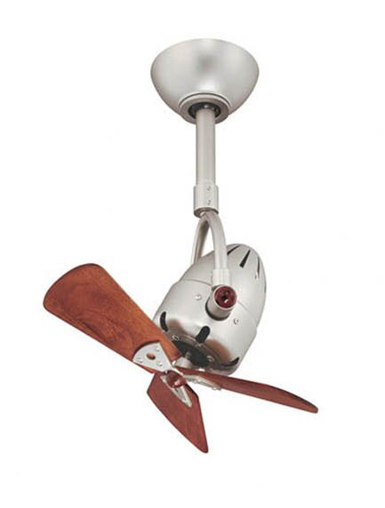 16 Diane Oscillating 3 Wooden Blade Ceiling Fan with Remote by Matthews Fan Company