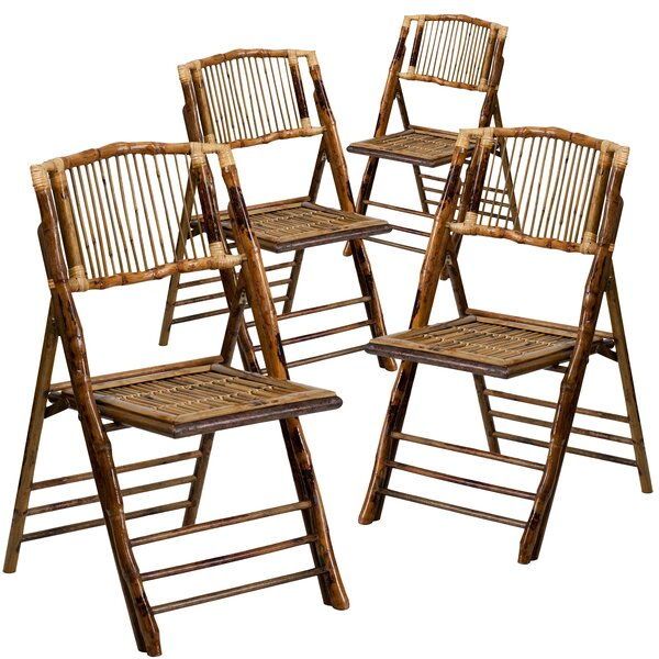 American Champion Wood Folding Chair (Set of 4) by Flash Furniture
