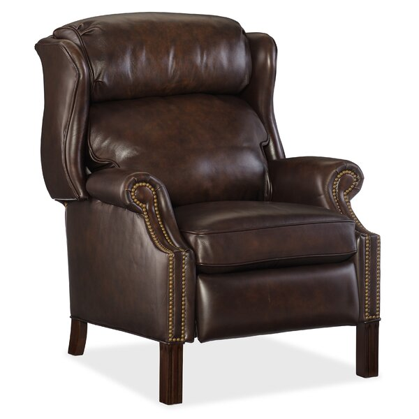 Therese Leather Recliner Red Barrel Studio W002585001