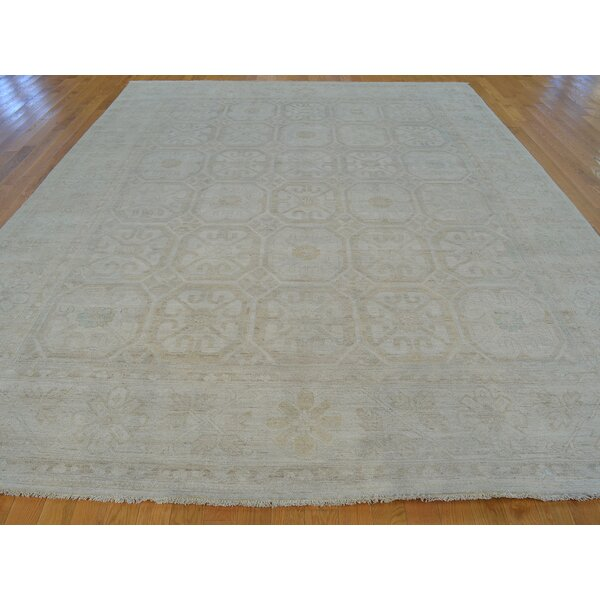 One-of-a-Kind Beauchemin Hand-Knotted Grey Wool Area Rug by Isabelline
