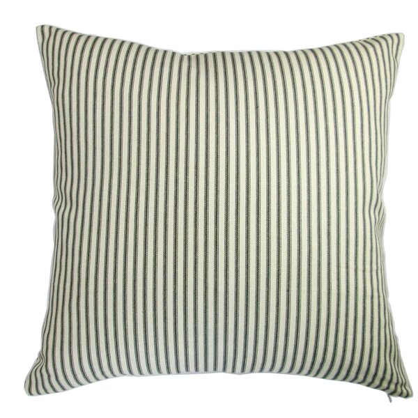 Chavis Modern Country Cottage Home French Ticking Pillow by Longshore Tides