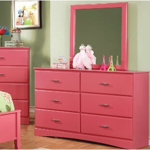 Read Reviews Krish 6 Drawer Double Dresser with Mirror By Zoomie Kids