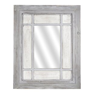 Best Reviews Delicia Decor Wooden Window Pane Hanging Wall Mirror ByGracie Oaks