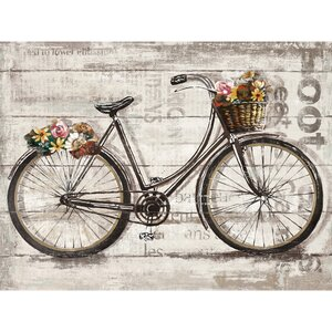 'Wheels II Spring' Graphic Art Print on Wrapped Canvas by August Grove
