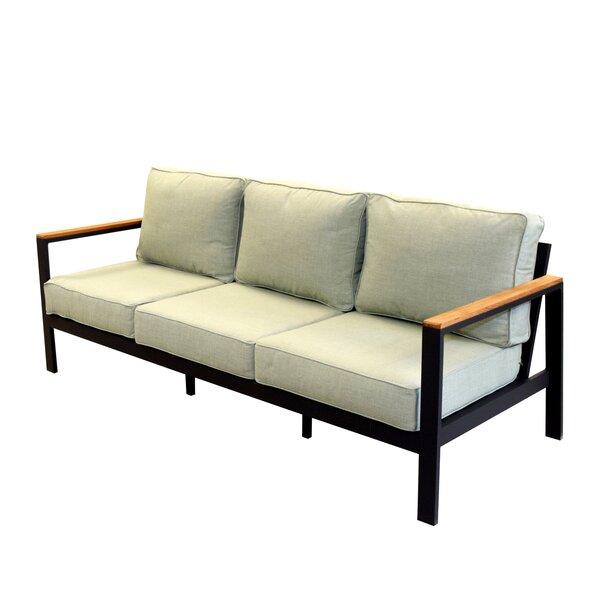 Townsend Outdoor Patio Sofa with Cushions by Brayden Studio Brayden Studio