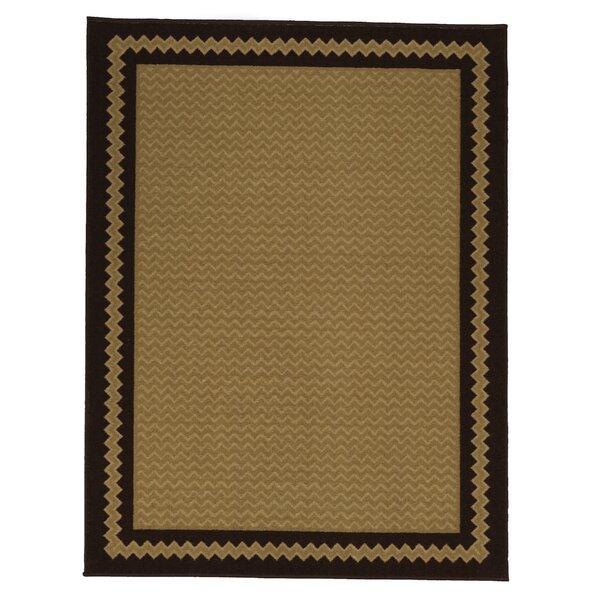 Arline Rubberback Brown Indoor/Outdoor Area Rug