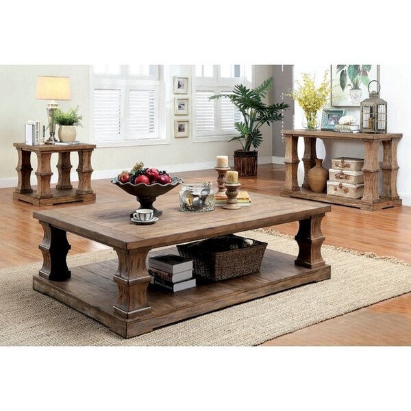 Powersville Floor Shelf Coffee Table With Storage By Loon Peak