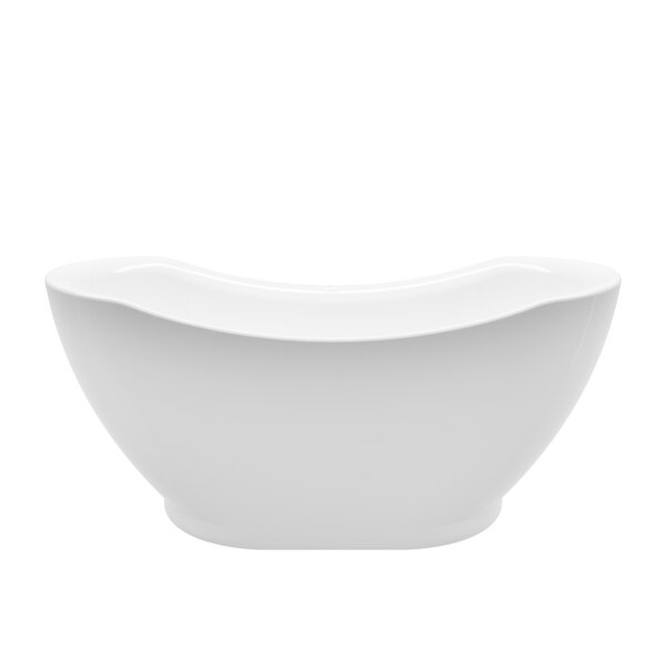 Salacia 67 x 27 Freestanding Soaking Bathtub by A&E Bath and Shower