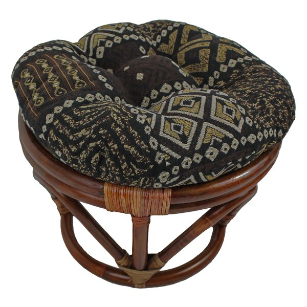 Bouirou Papasan Stool with Cushion by World Menagerie