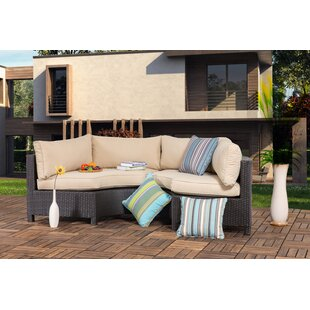 Charmant Zaina Outdoor 2 Pieces Curved Sofa Seating Group With Cushions