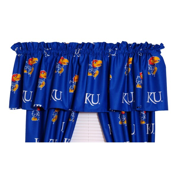NCAA Kansas Printed Rod Pocket Curtain Valance by College Covers