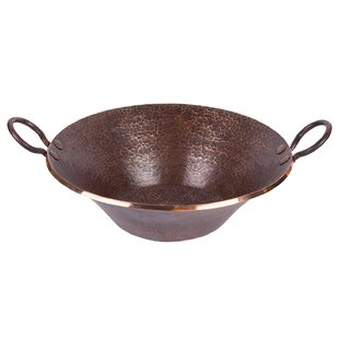 Inexpensive Old World Miners Pan Metal Oval Vessel Bathroom Sink ByPremier Copper Products