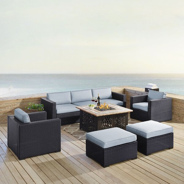 Seaton 7 Piece Rattan Sofa Seating Group with Cushions by Sol 72 Outdoor