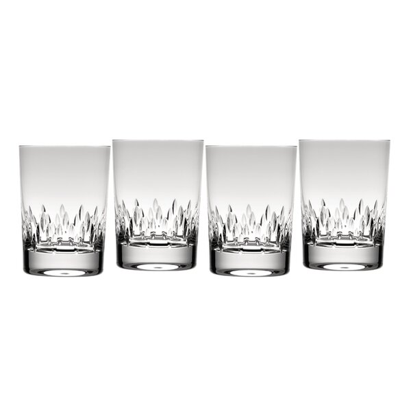 Duchesse Double Old Fashioned Crystal Cocktail Glass (Set of 4) by Vera Wang