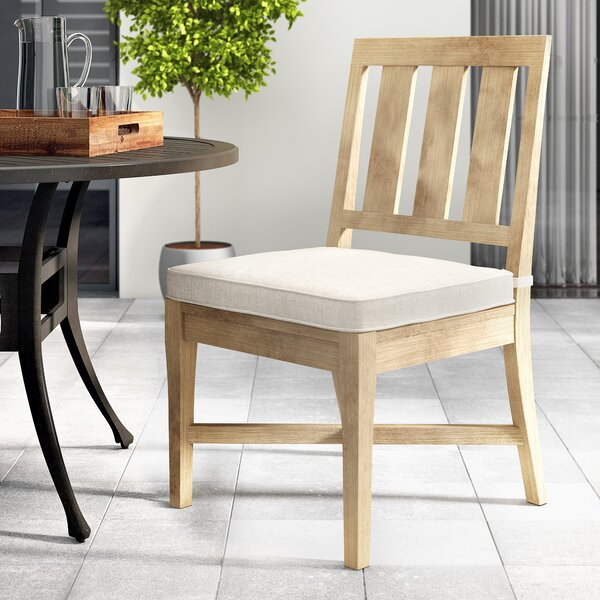 Nimmons Patio Dining Chair with Cushion (Set of 2) by Greyleigh