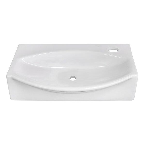 Ceramic 17 Wall Mount Bathroom Sink by Royal Purple Bath Kitchen