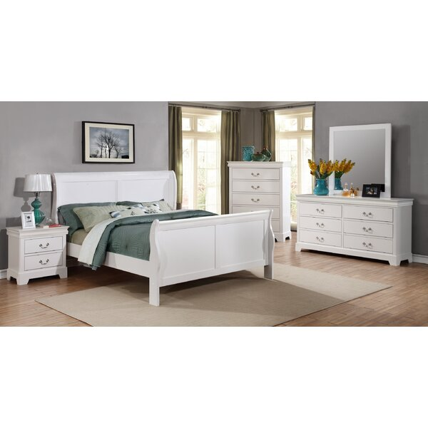 Fasano Full Sleigh 5 Piece Bedroom Set by Charlton Home
