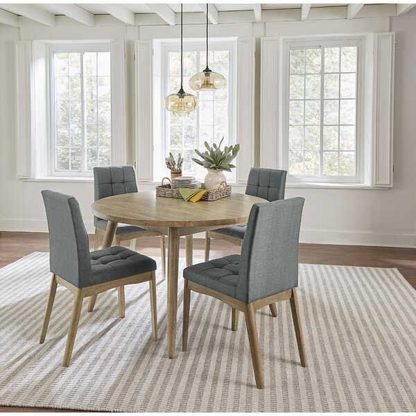 Orbison 5 Piece Solid Wood Dining Set by Union Rustic