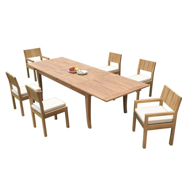 Shayne 7 Piece Teak Dining Set by Rosecliff Heights