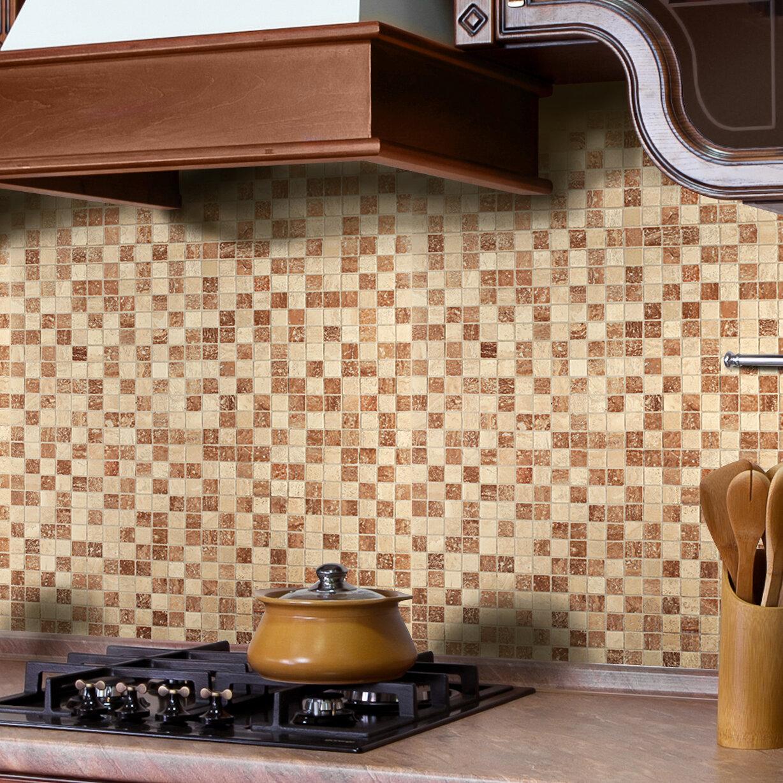 - Instant Mosaic 12'' X 12'' Natural Stone Peel & Stick Mosaic Tile