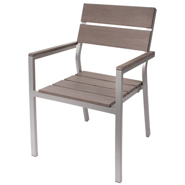 Stacking Teak Patio Dining Chair by BFM Seating